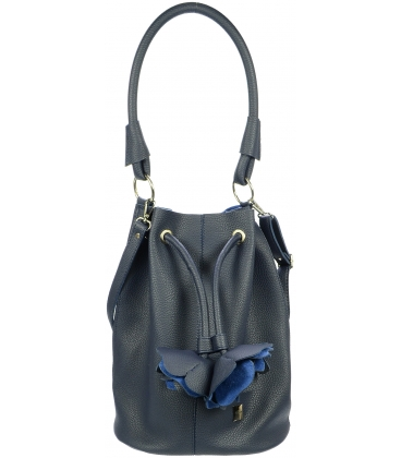 Modrá mechová kabelka S724 - Grosso