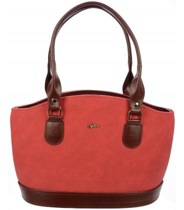 Červeno-čierna elegantná kabelka S37 - Grosso