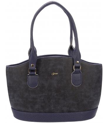 Modrá elegantná kabelka S37 - Grosso