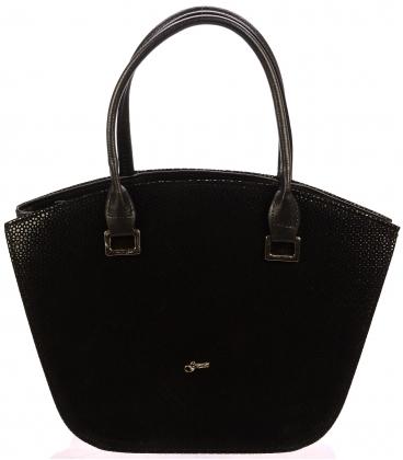 Čierna elegantná kabelka S452 - Grosso