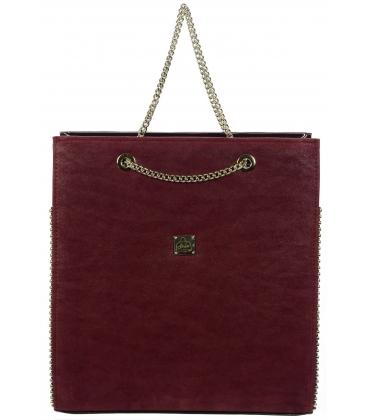 Bordová elegantná kabelka S709 - Grosso