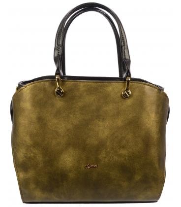 Zlatá elegantná kabelka S686 - Grosso