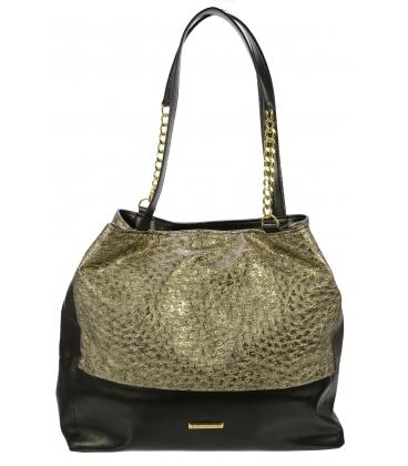 Zlato-čierna kabelka S611 - Grosso