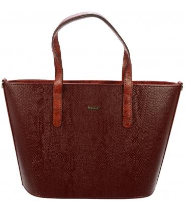 Bordovo-červená elegantná kabelka S631 - Grosso