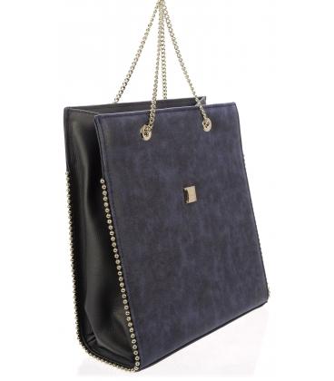 Modrá elegantná kabelka S709 - Grosso