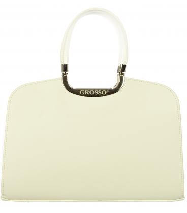 Biela elegantná kabelka V18SM001WHT   - Grosso