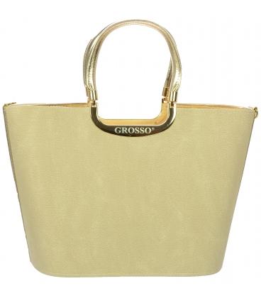 Béžová matná kabelka V18SM002BEI    - Grosso