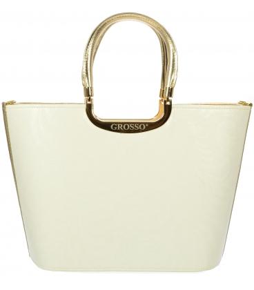 Biela vystužená kabelka V18SM002WHT - Grosso