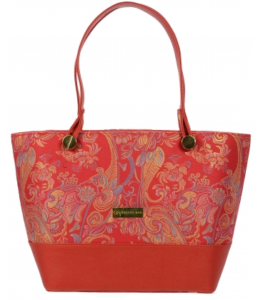 Ružová kabelka s etnickým vzorom V18ETN004PNK- Grosso