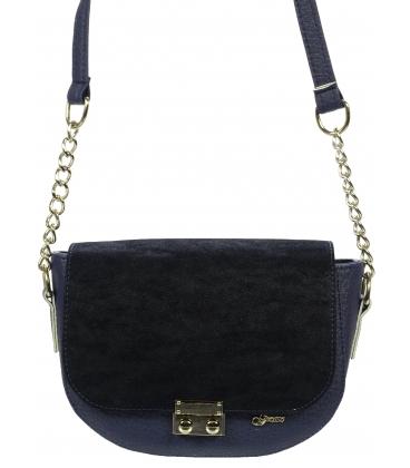 Modro- čierna crossbody kabelka s hadím vzorom V18SZ005BLU - Grosso