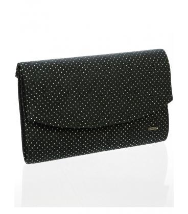 Čierna bodkovaná  listová kabelka S18SZ001BLC -  Grosso