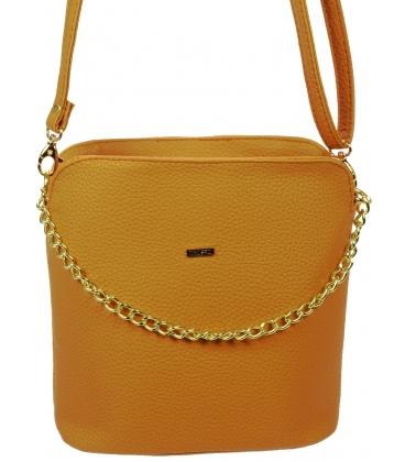 Hnedá crossbody kabelka s retiazkou C18SM015BEW  - Grosso