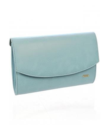 Bledomodrá listová kabelka s odleskom S18SZ001BLU -  Grosso