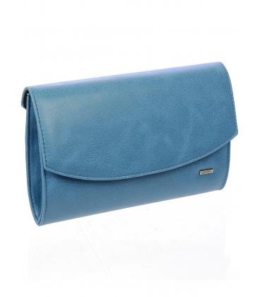 Modrá listová kabelka s odleskom S18SZ001BLU -  Grosso
