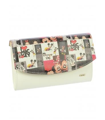 Biela listová kabelka s rozprávkovou potlačou S18KS001MLT -  Grosso