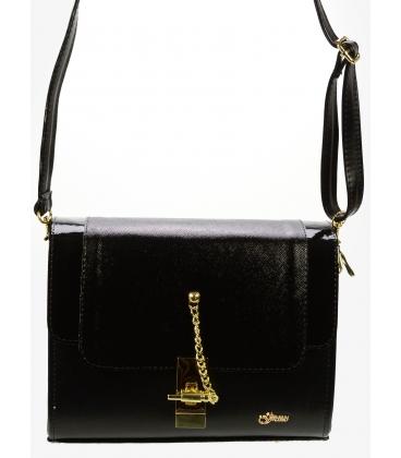 Čierna crossbody kabelka so zlatým zapínaním C18SL016BLC - Grosso
