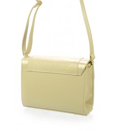 Béžová crossbody kabelka so zlatým zapínaním C18SL016BEI - Grosso