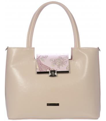 Ružová vystužená kabelka V18SM011PNK - Grosso