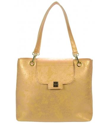 Zlatá  kabelka s pretieraným  vzorom V18ETN005GLD - Grosso