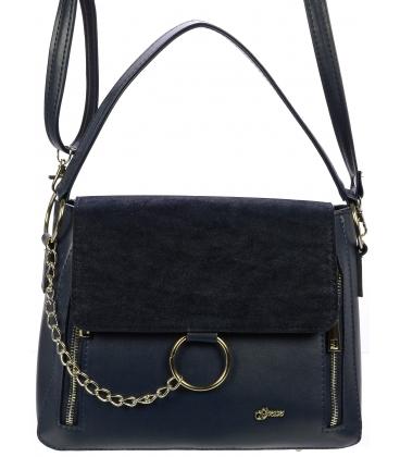 Modrá crossbody kabelka so striebornými doplnkami C18SZ018BLU - Grosso