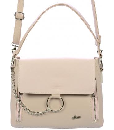 Ružová crossbody kabelka so striebornými doplnkami C18SM018PNK - Grosso