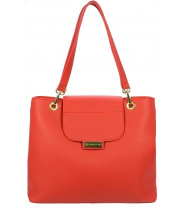 Červená kabelka na rameno V18KM005RED - Grosso