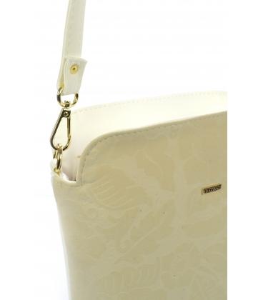 Bielo- béžová crossbody kabelka s kvetovanou potlačou C18SM011BEI - Grosso