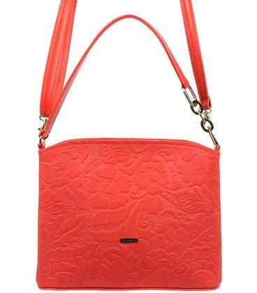 Červená crossbody kabelka s potlačou C18SZ026RED