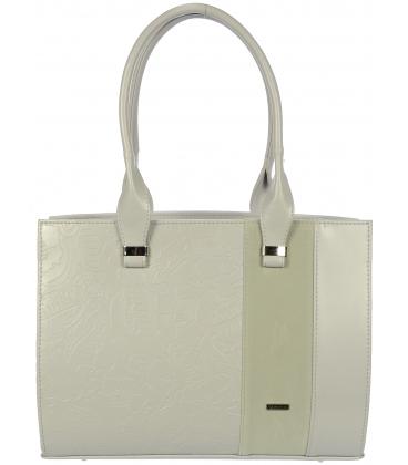 Biela kabelka s motívom kvetov V18SM030WHT