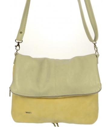 Béžovo-šedá crossbody kabelka so strapcom C18SM035GRY - Grosso