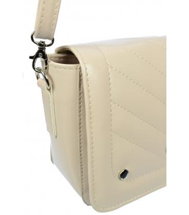 Béžová crossbody kabelka so strapcom C18SM035BEI - Grosso