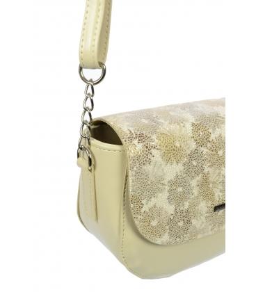 Béžová crossbody kabelka s kvetinovou potlačou C18041BEI-GROSSO