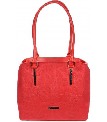 Červená elegantná kabelka V18SZ049RED - GROSSO