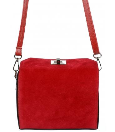 Červená crossbody kabelka C18SM027RED - GROSSO