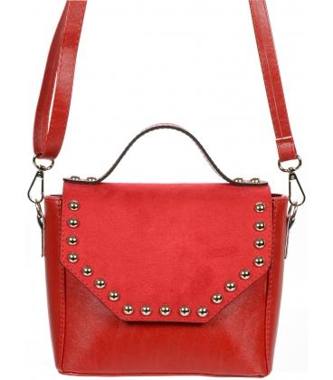 Červená crossbody kabelka s vybíianím C18SM014RED - GROSSO