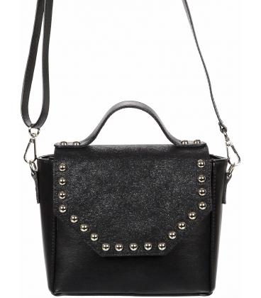 Čierna crossbody kabelka s vybíjaním C18SM014BLC - GROSSO
