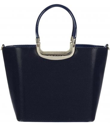Čierna lakovaná kabelka s hadím vzorom V18SL002BLC -GROSSO