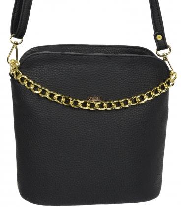 Čierna crossbody kabelka s retiazkou C18SM015BLC - GROSSO