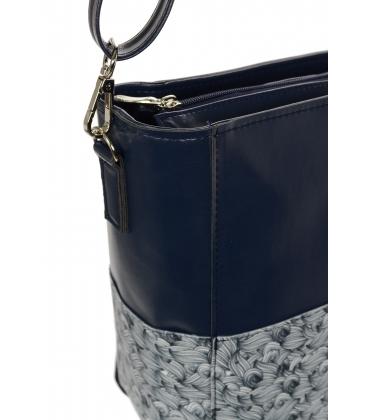 Modrá crossbody kabelka s potlačou C18SM058BLU - GROSSO