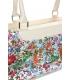 Pudrová kabelka s kvetmi V18SM050PNK - GROSSO
