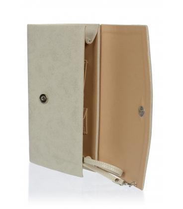 Strieborná väčšia listová kabelka S18SZ063SLV - GROSSO