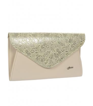 Pudrovo-zlatá listová kabelka S18SM004GLD - GROSSO