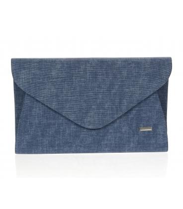 Tmavomodrá denim listová kabelka S18SZ004BLU - GROSSO