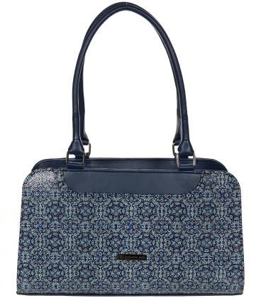 Tmavomodrá kabelka s mozaikou V18SM050BLU - GROSSO
