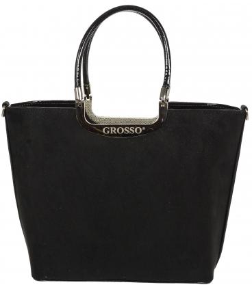 Čierna elegantná kabelka V18SZ002BLC - GROSSO