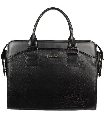 Čierna elegantná taška na notebook A18SM065BLC - GROSSO