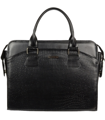 Fekete elegáns laptopos táska A18SM065BLC - GROSSO