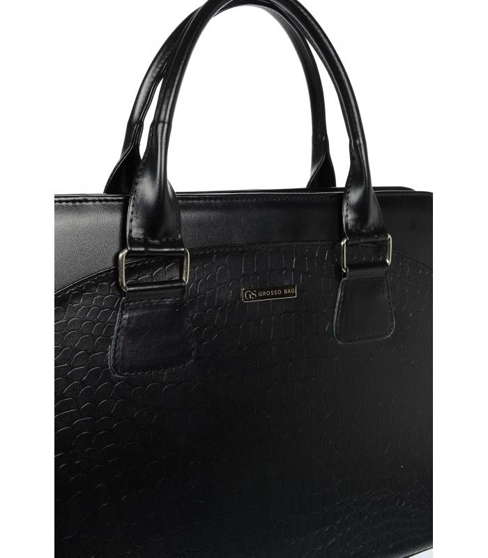c49f70f1cc31 Fekete elegáns laptopos táska A18SM065BLC - GROSSO - Grosso