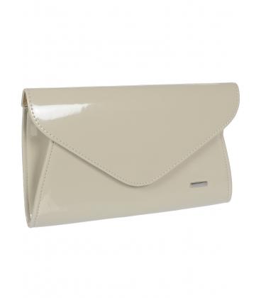 Bežová lakovaná listová kabelka S18SL004BEI - GROSSO