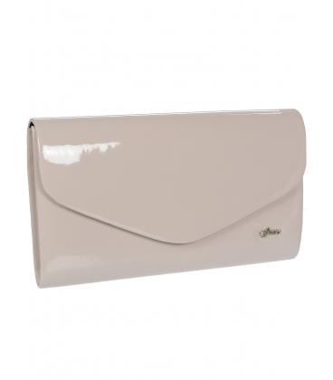 Pudrová lakovaná listová kabelka S18SL004PNK - GROSSO